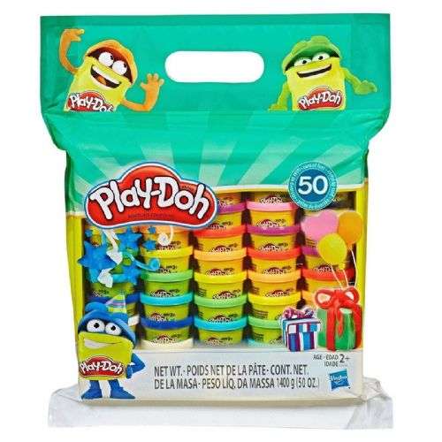 Hasbro PLAY-DOH Set of 50 x 28g Tubs SEALED Playdoh 1400g total
